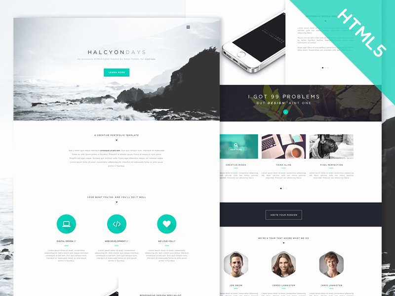 Photo Gallery Website Template Fresh 30 E Page Website Templates Built with HTML5 & Css3