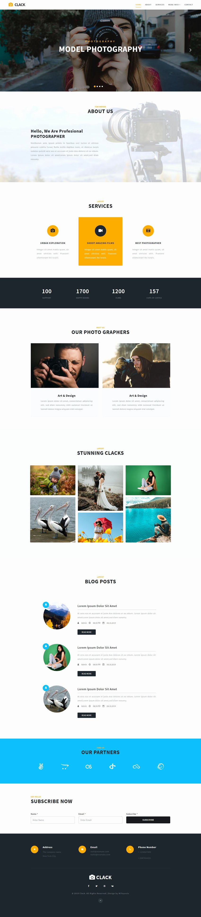 Photo Gallery Website Template Fresh Clack Gallery Bootstrap Responsive Web Template