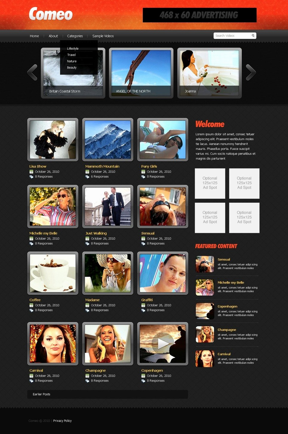 Photo Gallery Website Template Fresh Video Gallery Website Template