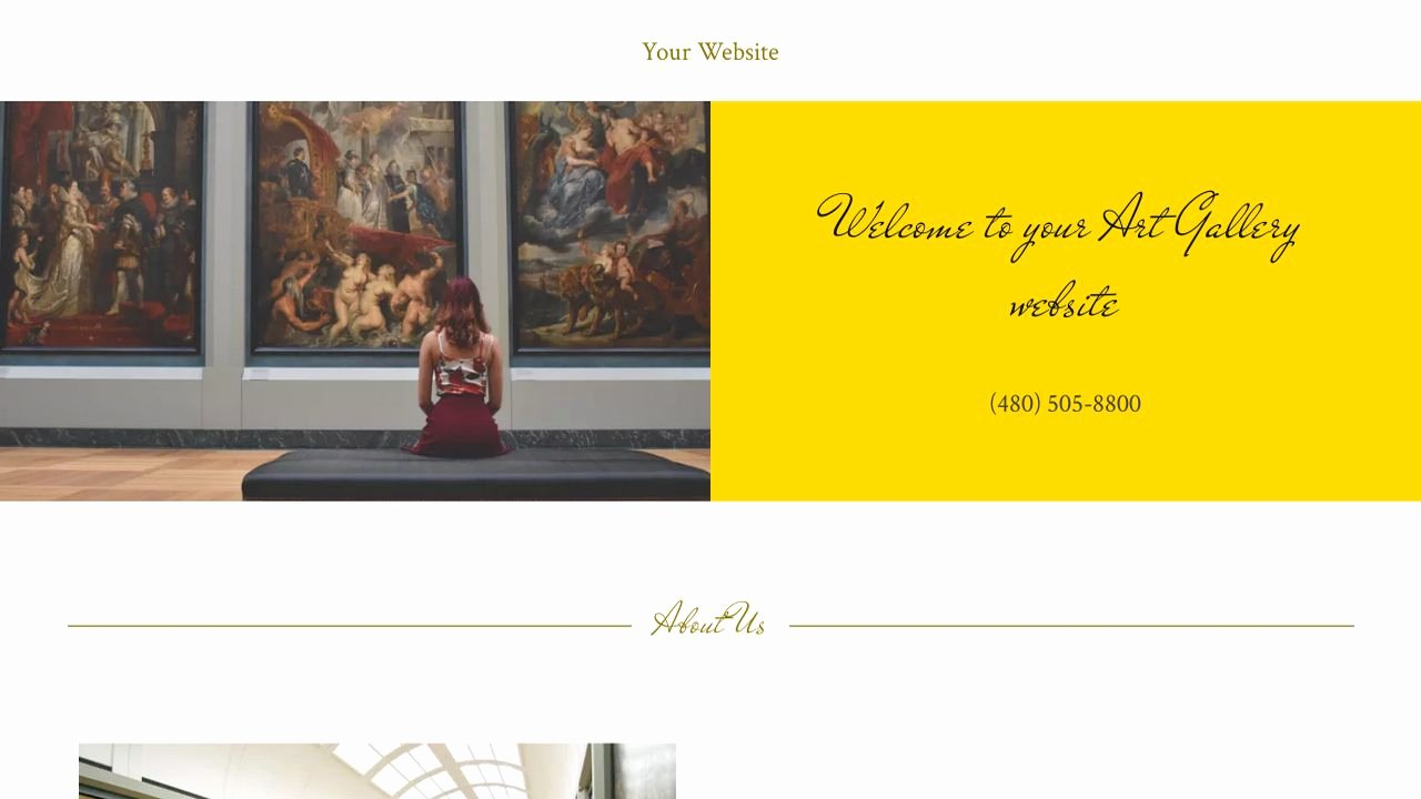 Photo Gallery Website Template Inspirational Art Gallery Website Templates