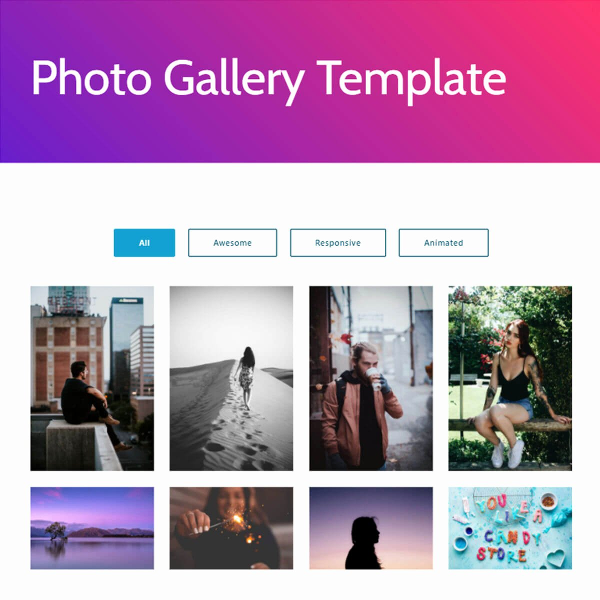 Photo Gallery Website Template Inspirational Free Bootstrap Template 2018