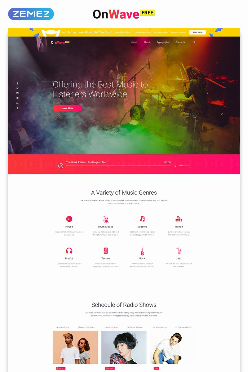 Photo Gallery Website Template New Free Website Template with Jquery Gallery Music