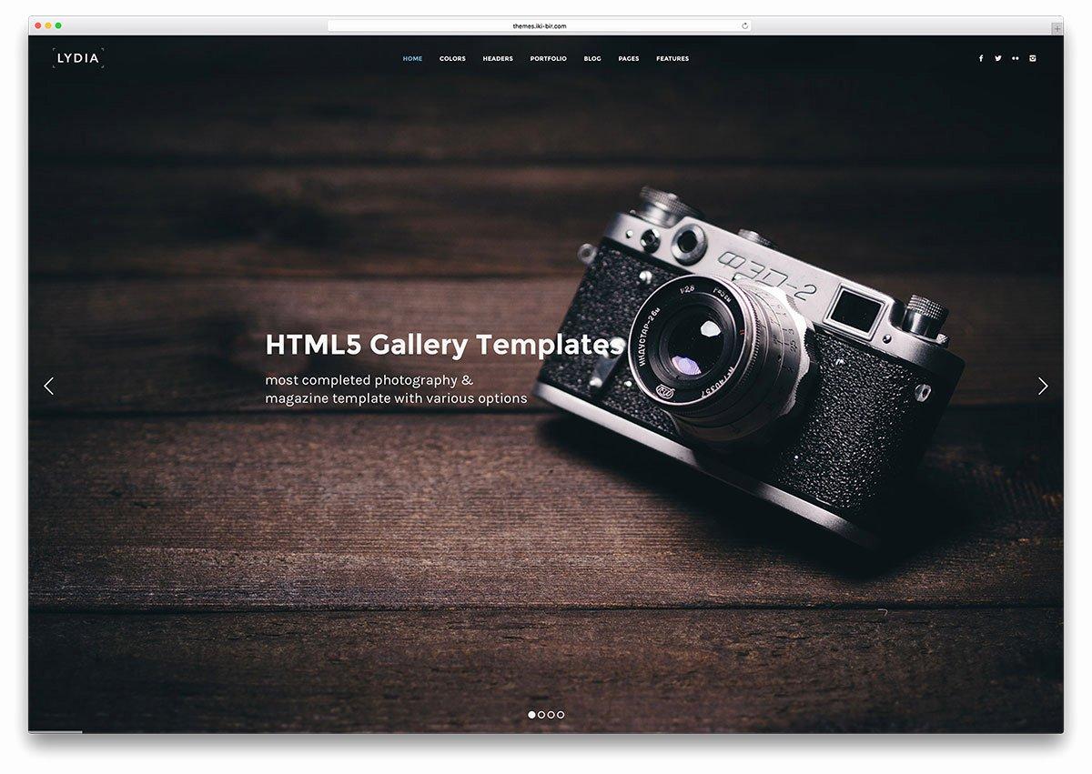 Photo Gallery Website Template Unique 21 top Gallery HTML5 Website Templates 2017 Colorlib