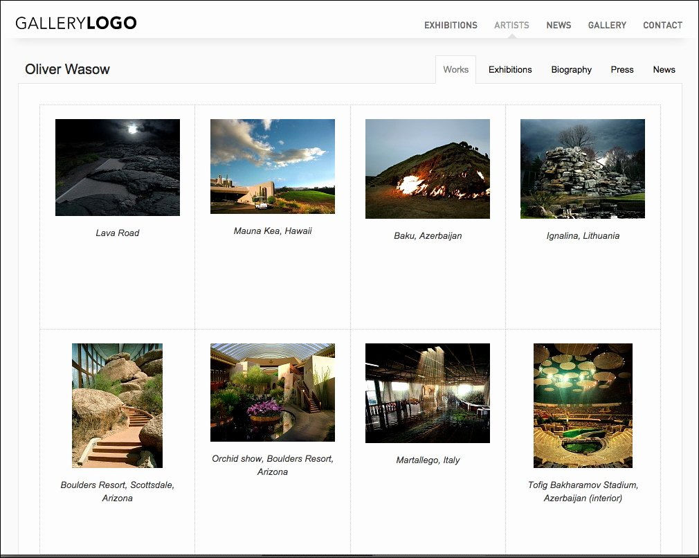 Photo Gallery Website Template Unique Art Gallery Website Art Collection Website