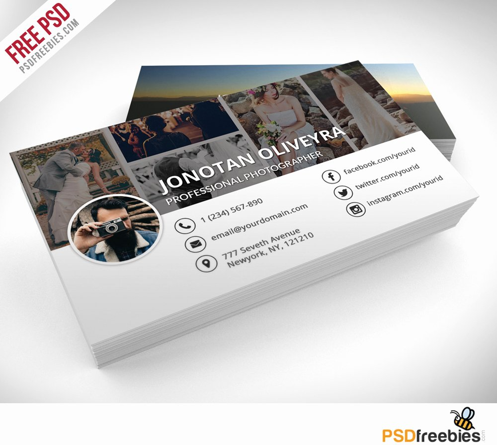 Photographer Business Card Template Awesome Professional Grapher Business Card Psd Template
