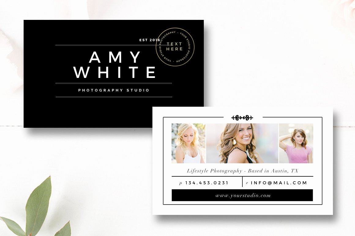 Photographer Business Card Template Awesome Senior Graphy Business Card Business Card Templates