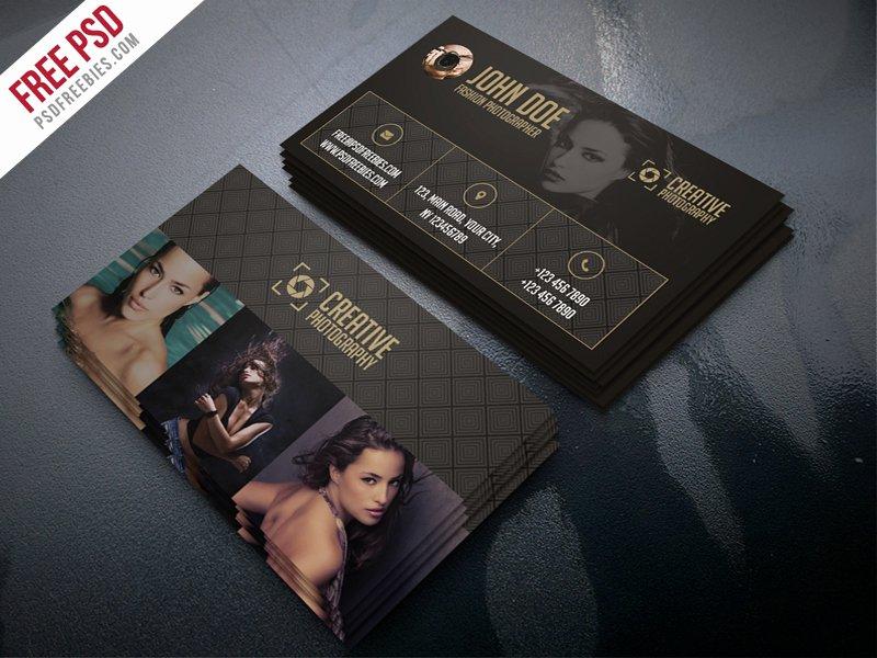 Photographer Business Card Template Beautiful Freebie Fashion Grapher Business Card Template Psd