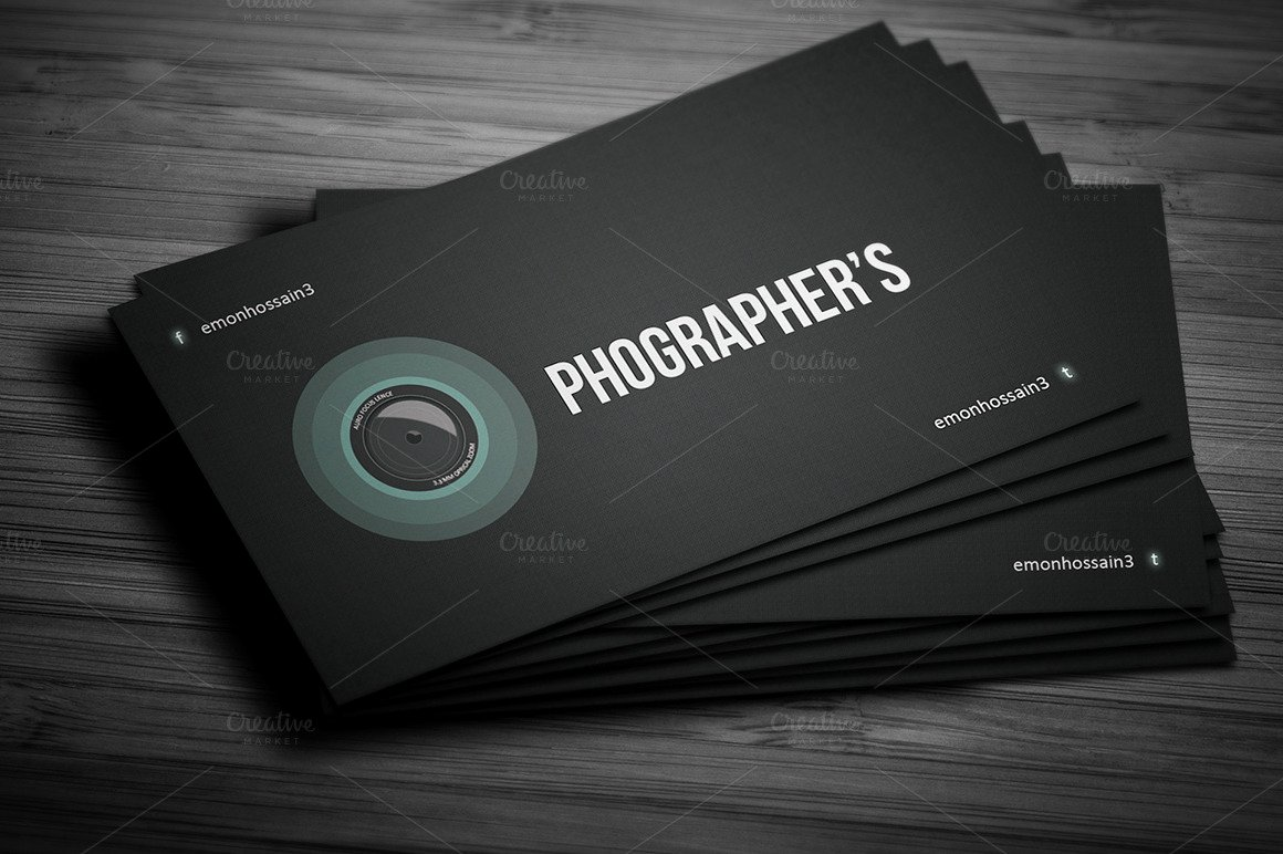 Photographer Business Card Template Fresh Grapher Creative Business Card Card Templates On