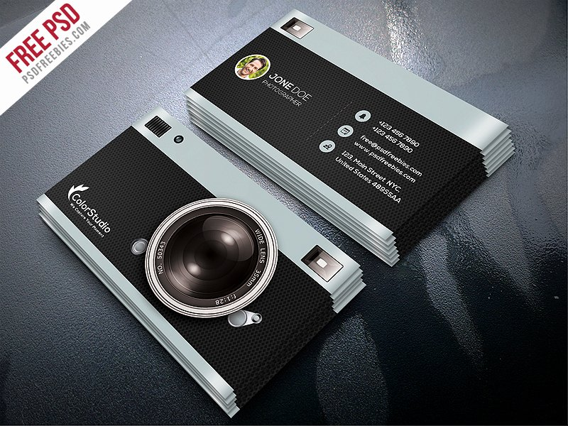 Photographer Business Card Template Inspirational Graphy Business Card Template Free Psd