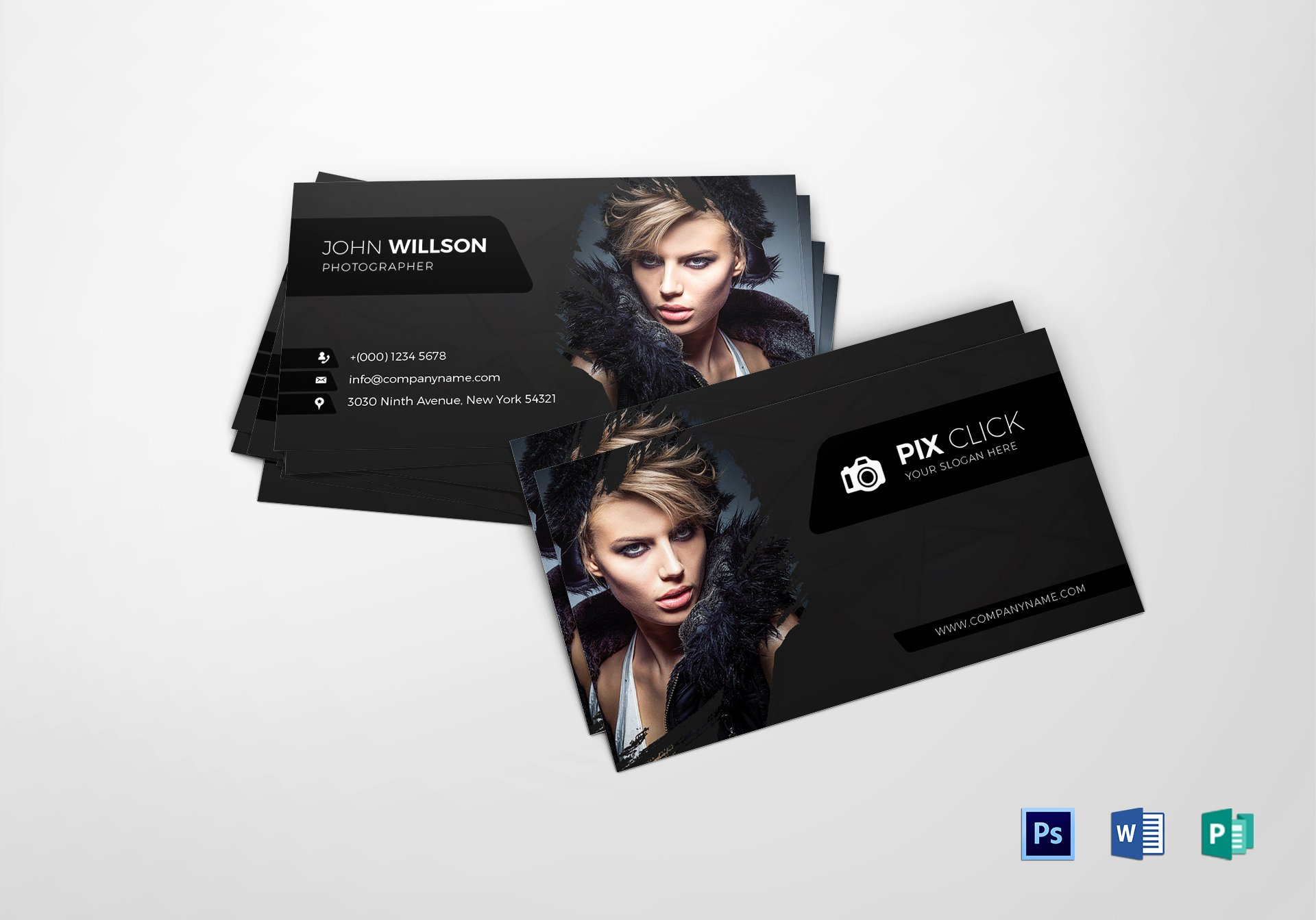 Photographer Business Card Template Lovely Grapher Business Card Design Template In Psd Word