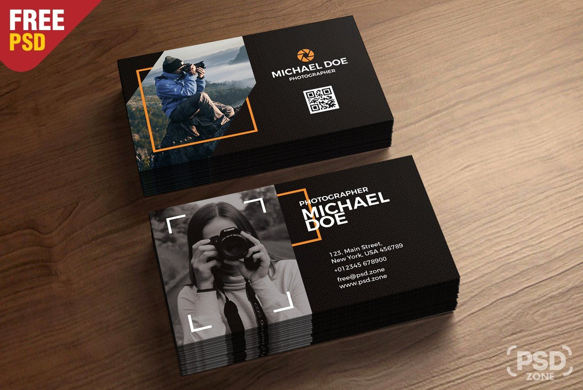 Photographer Business Card Template New Grapher Business Card Template Download Download Psd
