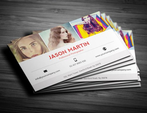 Photographer Business Card Template New Graphy Business Card Templates Design