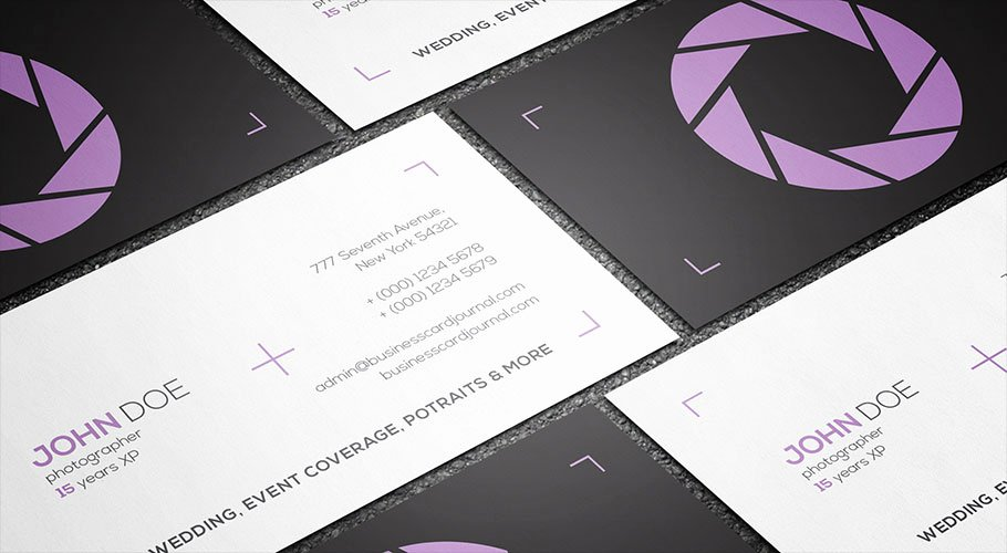 Photography Business Card Template Awesome Free Clean & Minimal Graphy Business Card Template