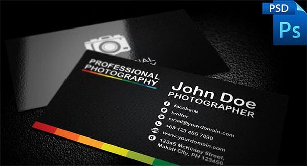 Photography Business Card Template Inspirational 76 Best Psd Business Card Templates