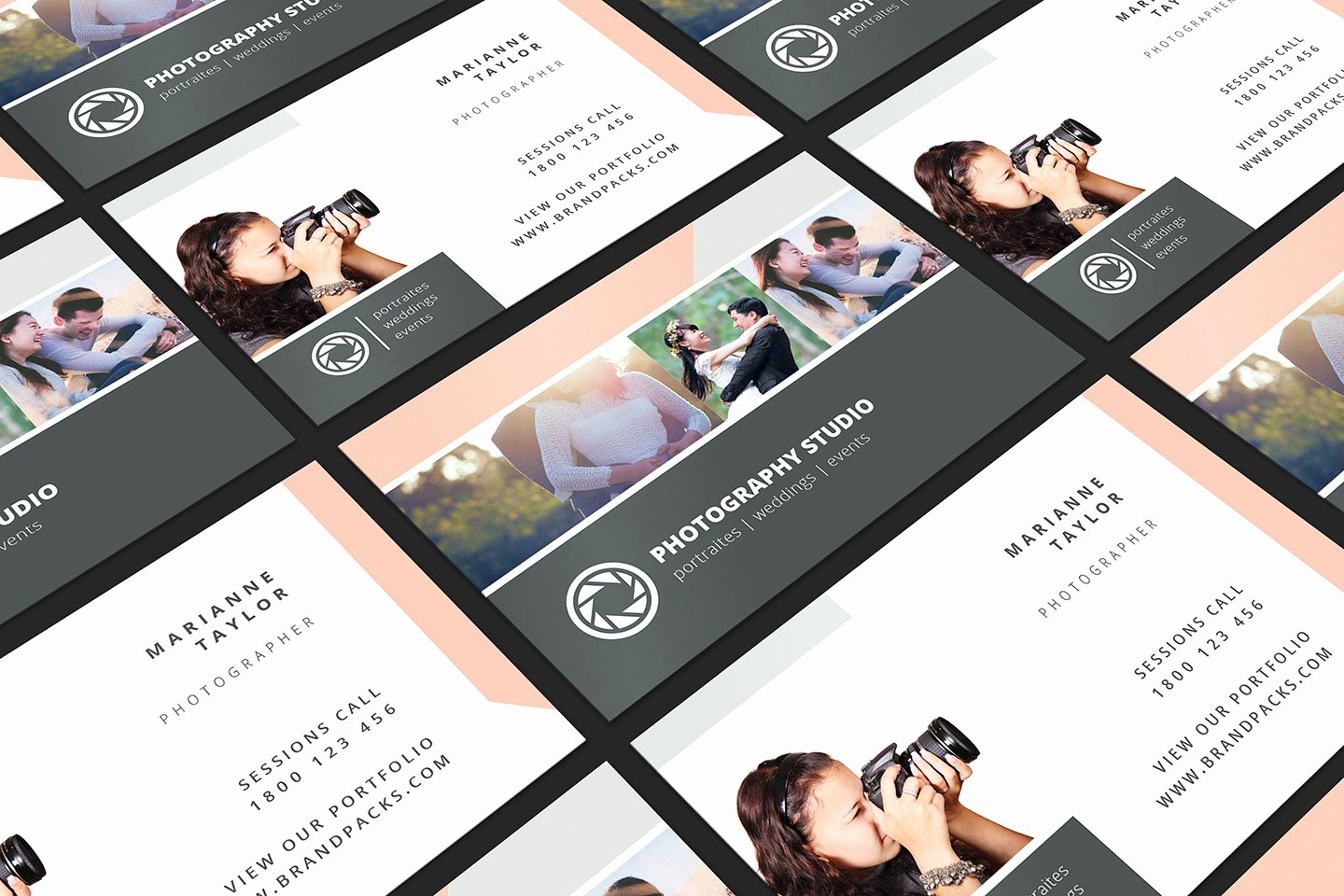 Photography Business Plan Template Beautiful Wedding Grapher Business Card Template V3 Brandpacks