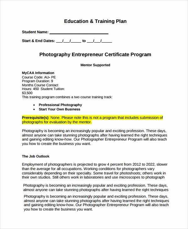 Photography Business Plan Template Elegant 11 Sample Graphy Business Plans