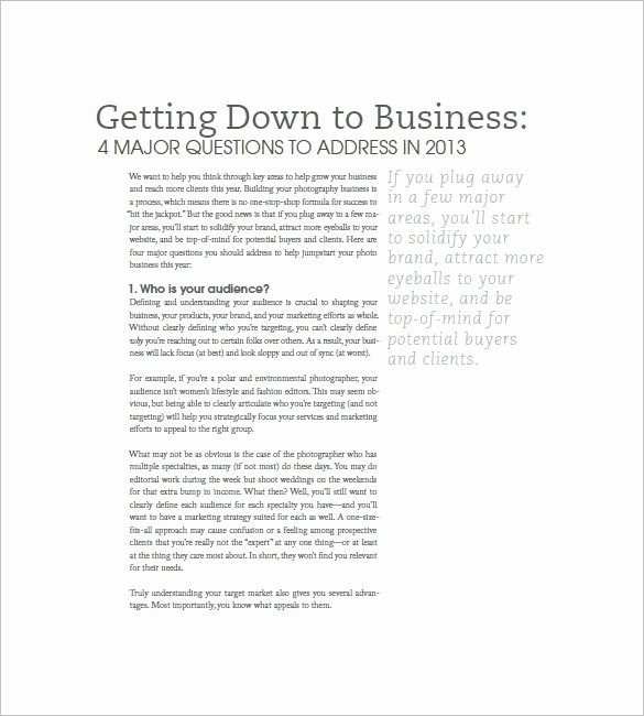 Photography Business Plan Template Fresh 25 Best Ideas About Business Plan Pdf On Pinterest