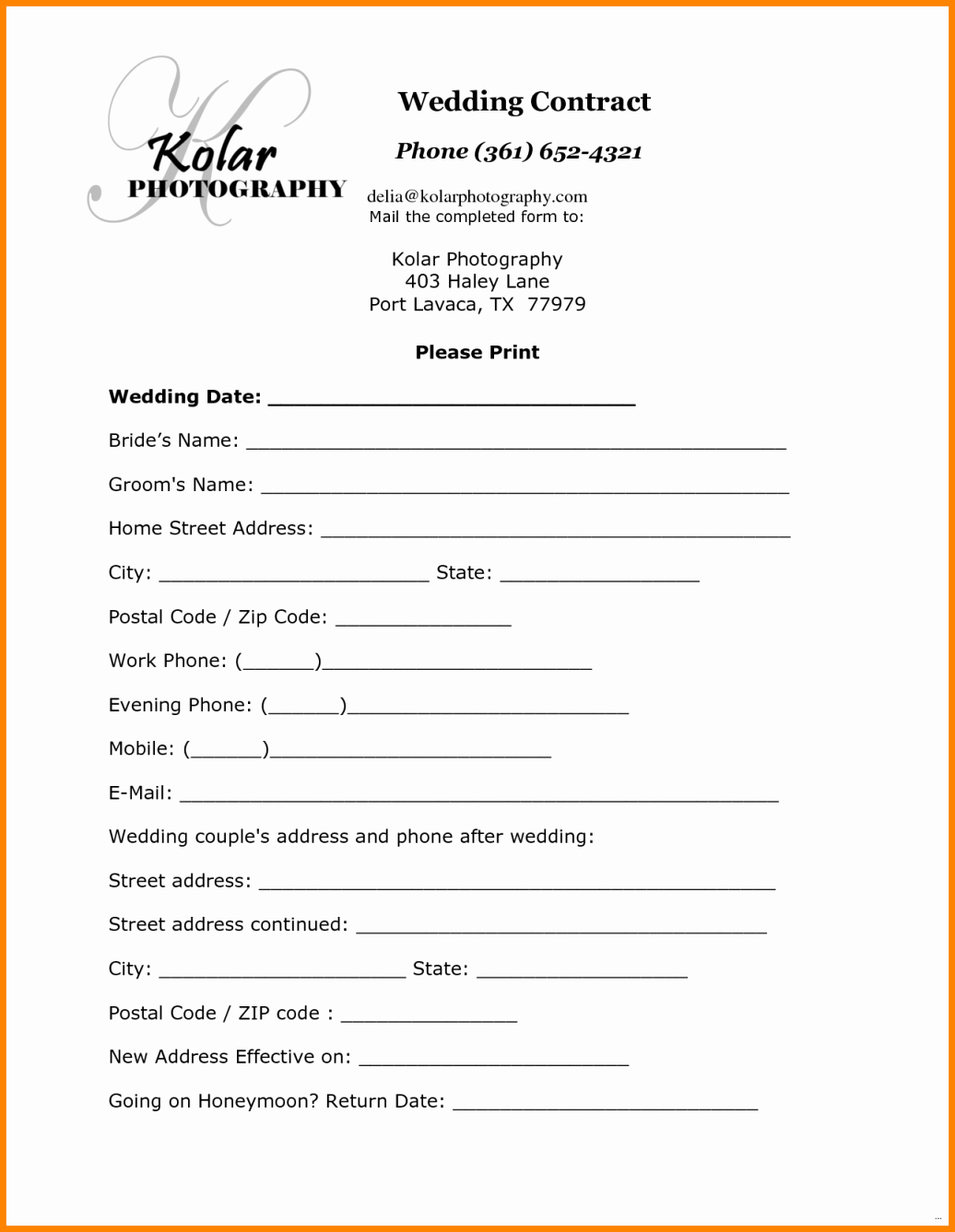 Photography Contract Template Pdf Beautiful 12 Simple Photography Contract