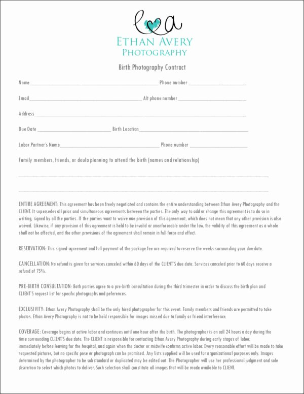 Photography Contract Template Pdf Elegant 19 Graphy Contract Templates