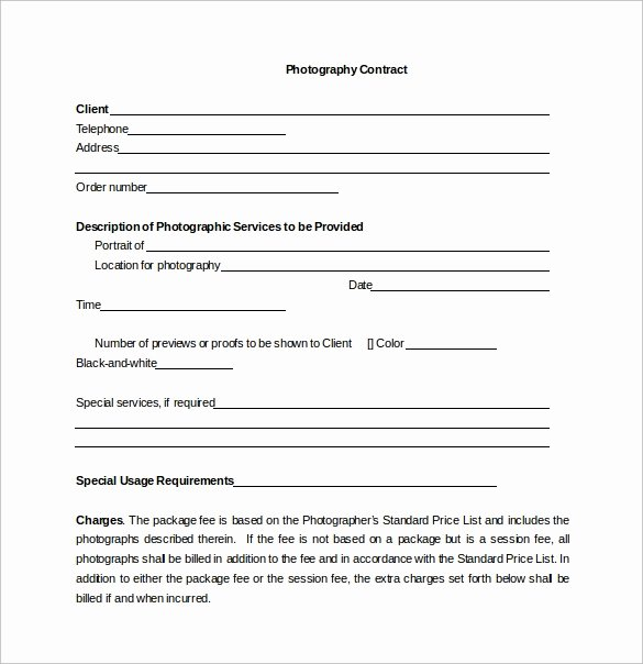 Photography Contract Template Pdf Fresh 10 Graphy Contract Templates Pdf Word Pages