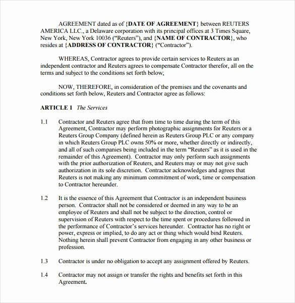 Photography Contract Template Pdf Fresh 18 Graphy Contract Templates – Pdf Doc