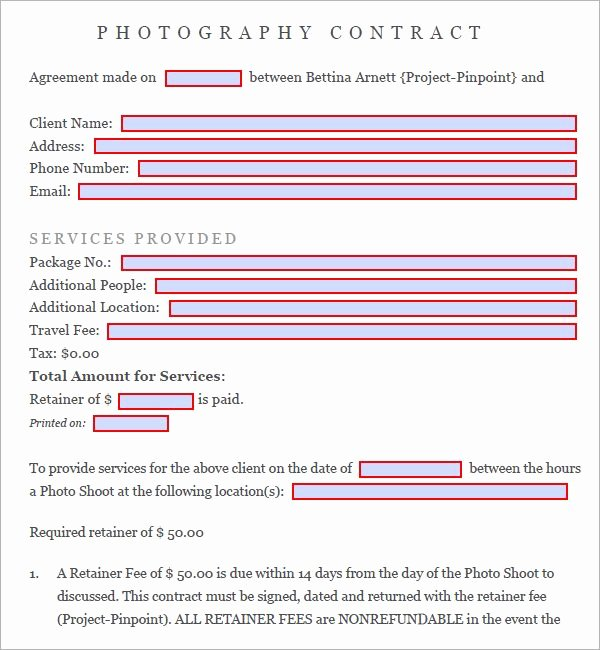 Photography Contract Template Pdf Luxury Best 25 Graphy Contract Ideas On Pinterest
