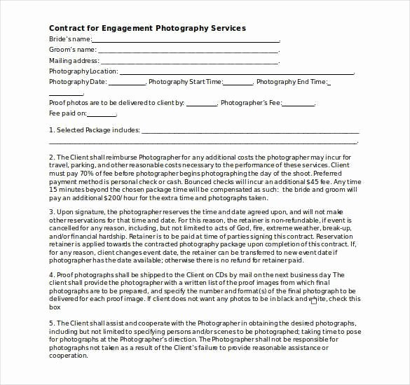 Photography Contract Template Pdf Luxury Graphy Contract Template – 20 Free Word Pdf