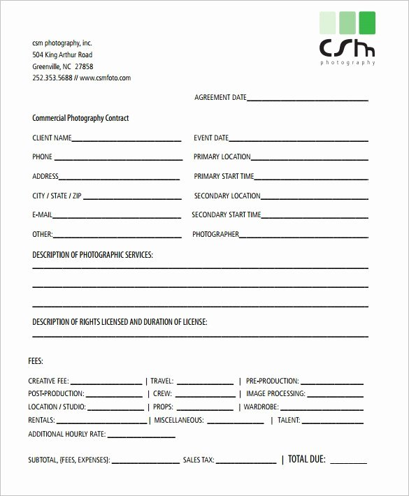Photography Contract Template Pdf Unique 18 Graphy Contract Templates – Pdf Doc