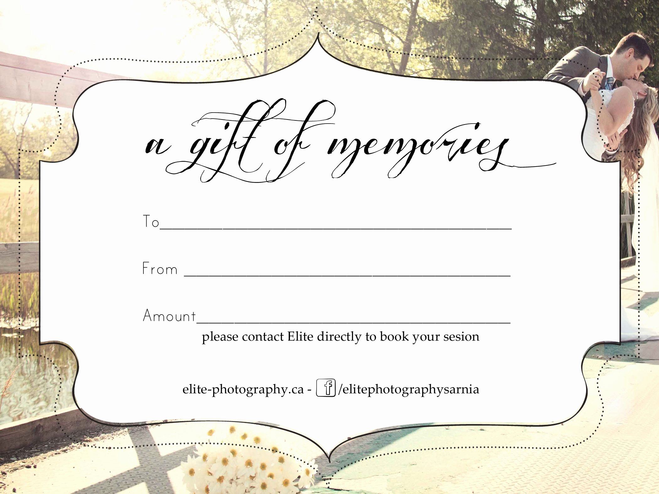 Photography Gift Certificate Template Awesome Free Graphy Gift Certificate