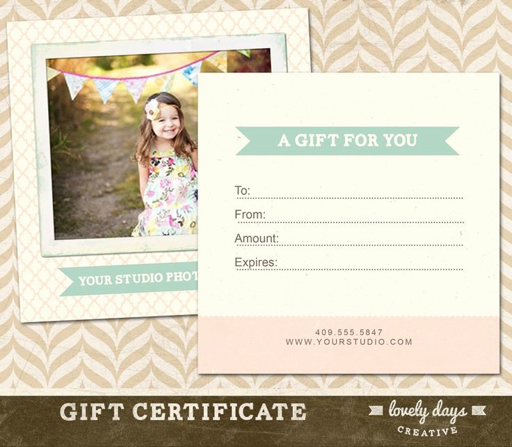 Photography Gift Certificate Template Best Of 37 Best Images About Gift Certificate Ideas On Pinterest