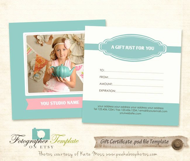 Photography Gift Certificate Template Best Of Gift Certificate Card Template Graphy Templates G112