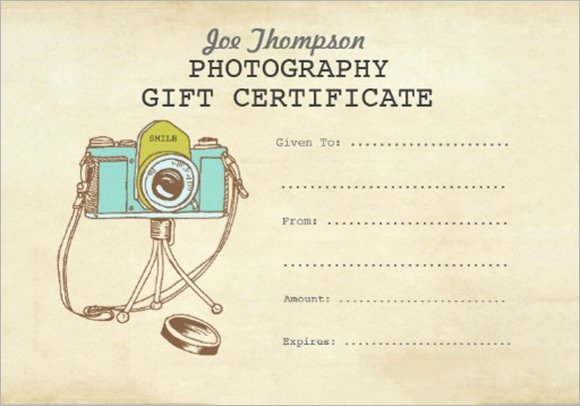 Photography Gift Certificate Template Luxury 12 Sample attractive Graphy Gift Certificate