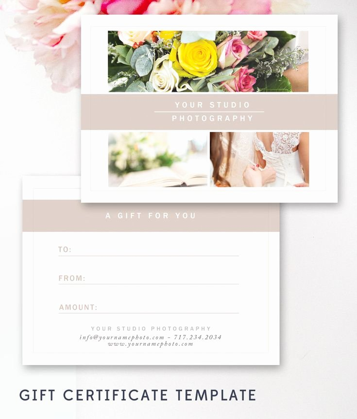 Photography Gift Certificate Template New 25 Best Ideas About Gift Certificate Templates On