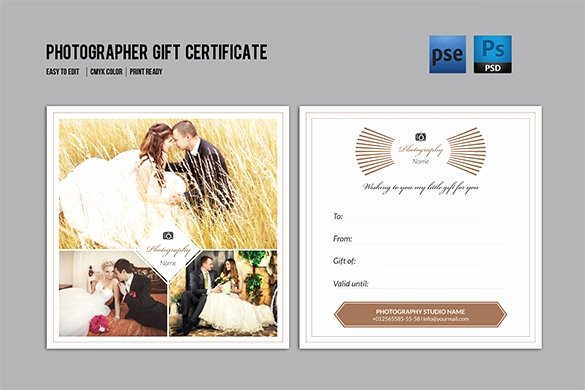 Photography Gift Certificate Template Unique 83 Psd Certificate Templates