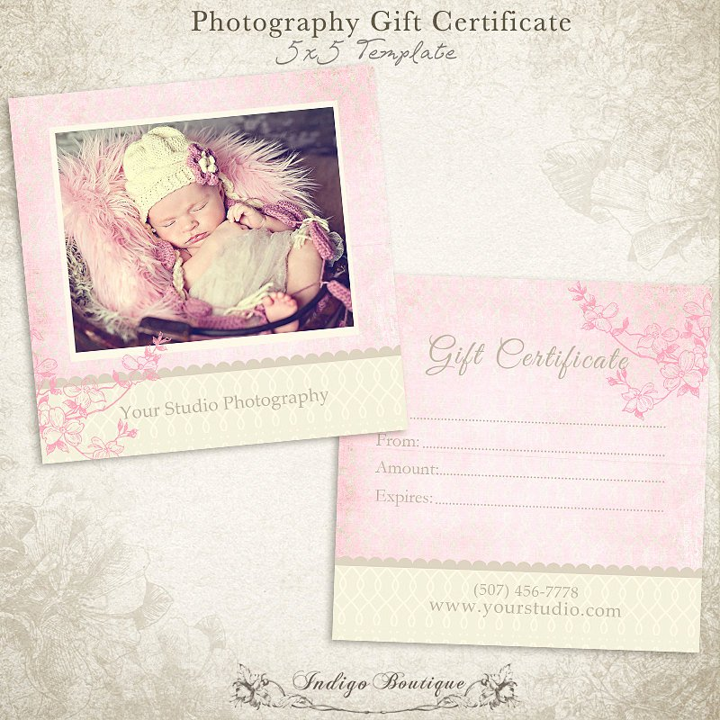 Photography Gift Certificate Template Unique Graphy Gift Certificate Photoshop Template by