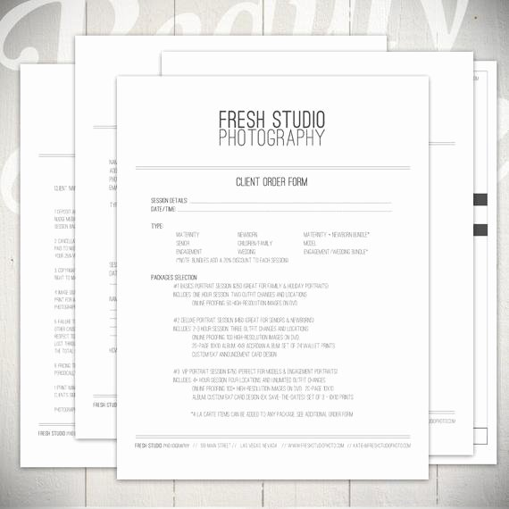 Photography order form Template Fresh Graphy forms 5 Essential Contracts by