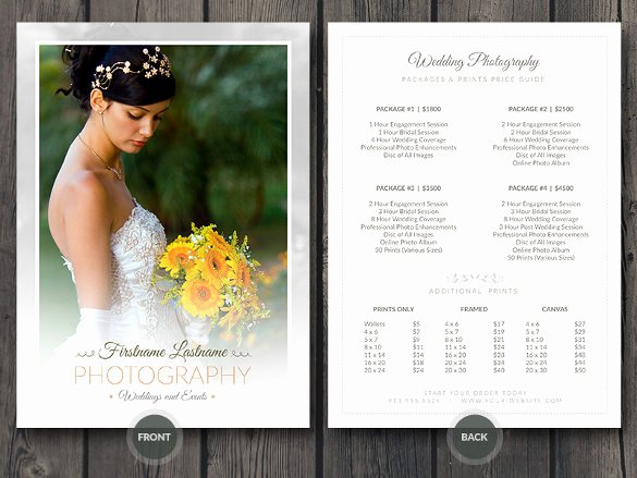 Photography Price List Template Beautiful 40 Psd Wedding Templates Free Psd format Download