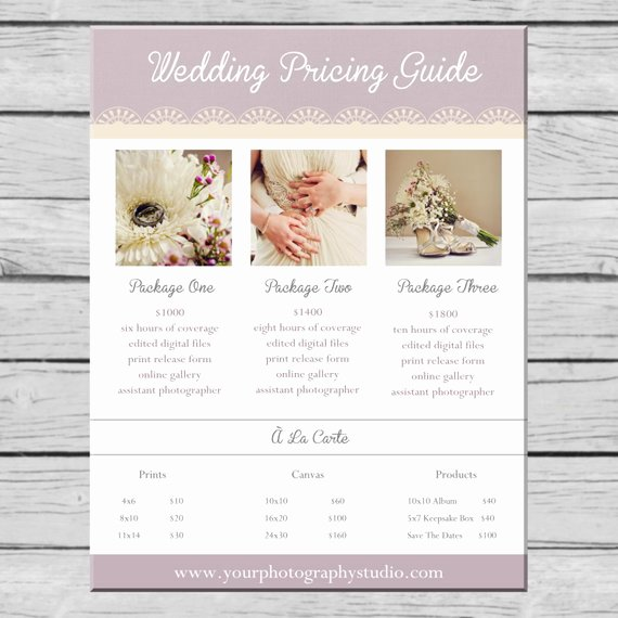 Photography Price List Template Best Of Items Similar to Wedding Graphy Pricing Guide