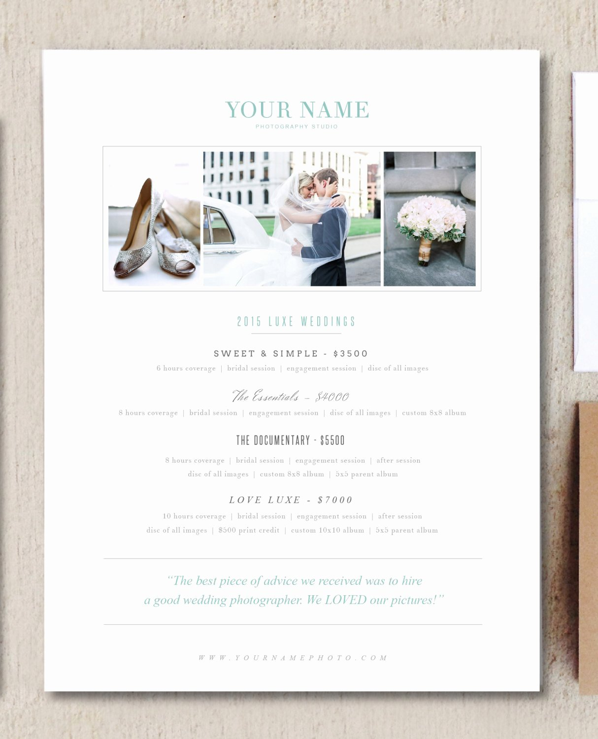 Photography Price List Template Best Of Wedding Grapher Pricing Guide Brochure Templates