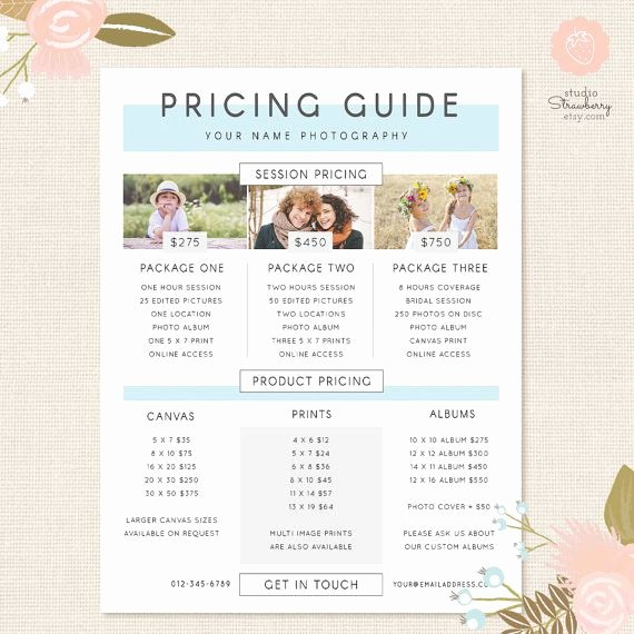 Photography Price List Template Fresh 25 Best Ideas About Graphy Price List On Pinterest