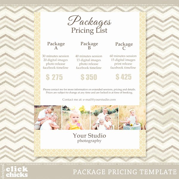 Photography Price List Template Fresh Graphy Package Pricing List Template 008 C061
