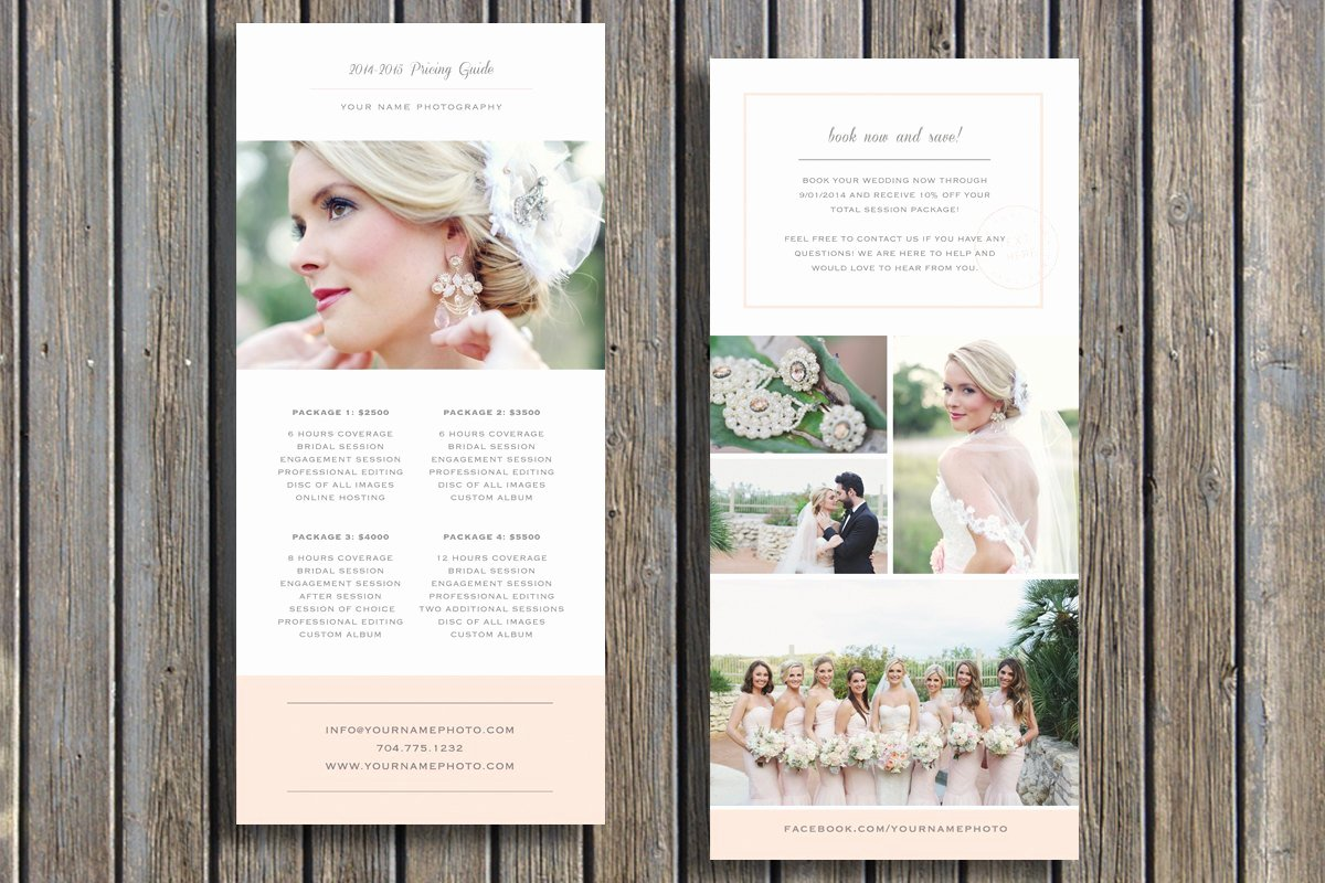 Photography Price List Template Lovely Wedding Grapher Pricing Guide Template Vista Print Rack