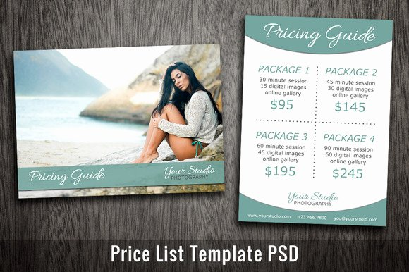 Photography Price List Template Luxury Furnitures Price Tag Sample Template In Shop