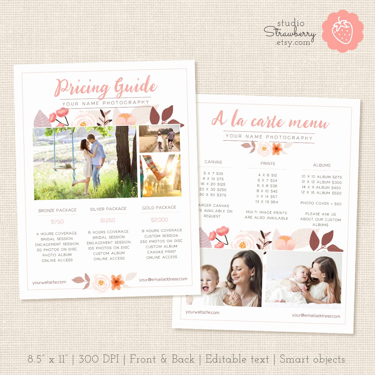 Photography Price List Template Luxury Graphers Price List Template Floral Graphy Pricing