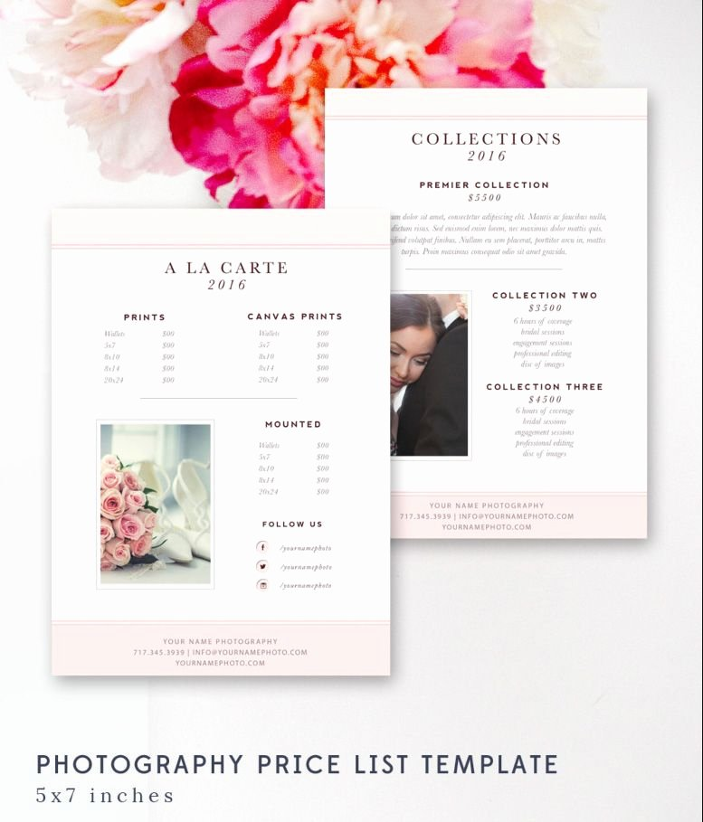 Photography Price List Template New Graphy Price List Template Pricing Sheet Guide