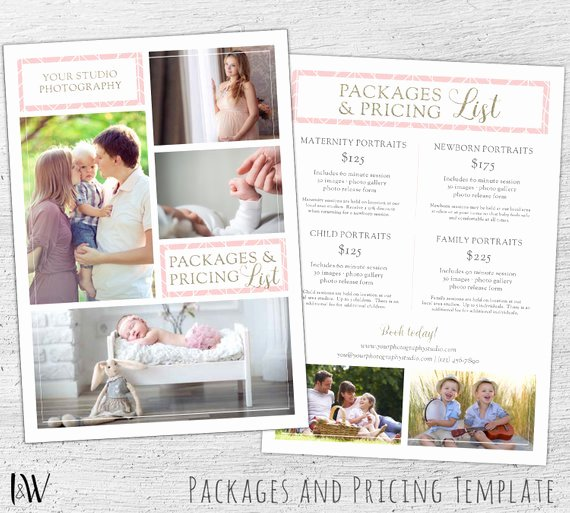 Photography Price Sheet Template Best Of Graphy Pricing Template Shop Template
