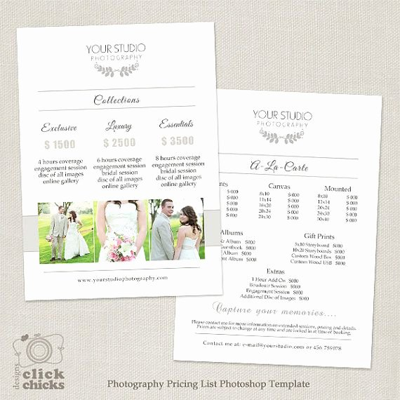 Photography Price Sheet Template New 17 Best Ideas About Graphy Price List On Pinterest