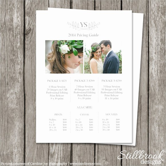 Photography Price Sheet Template New 9 Sample Usefull Price Sheet Templates to Download