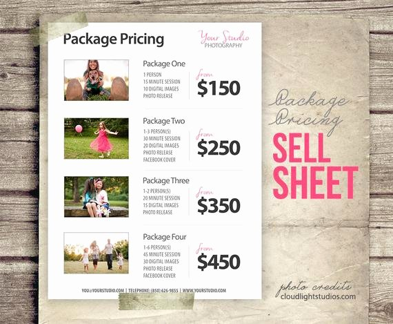 Photography Price Sheet Template New Graphy Package Pricing Grapher by Studiotwentynine