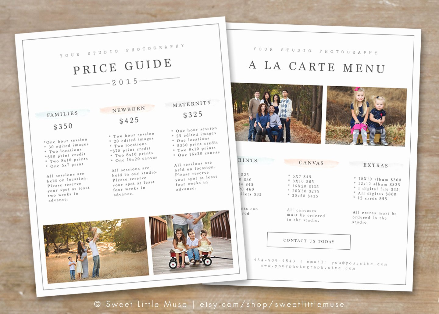 Photography Price Sheet Template New Graphy Price List Template Graphy Pricing Guide